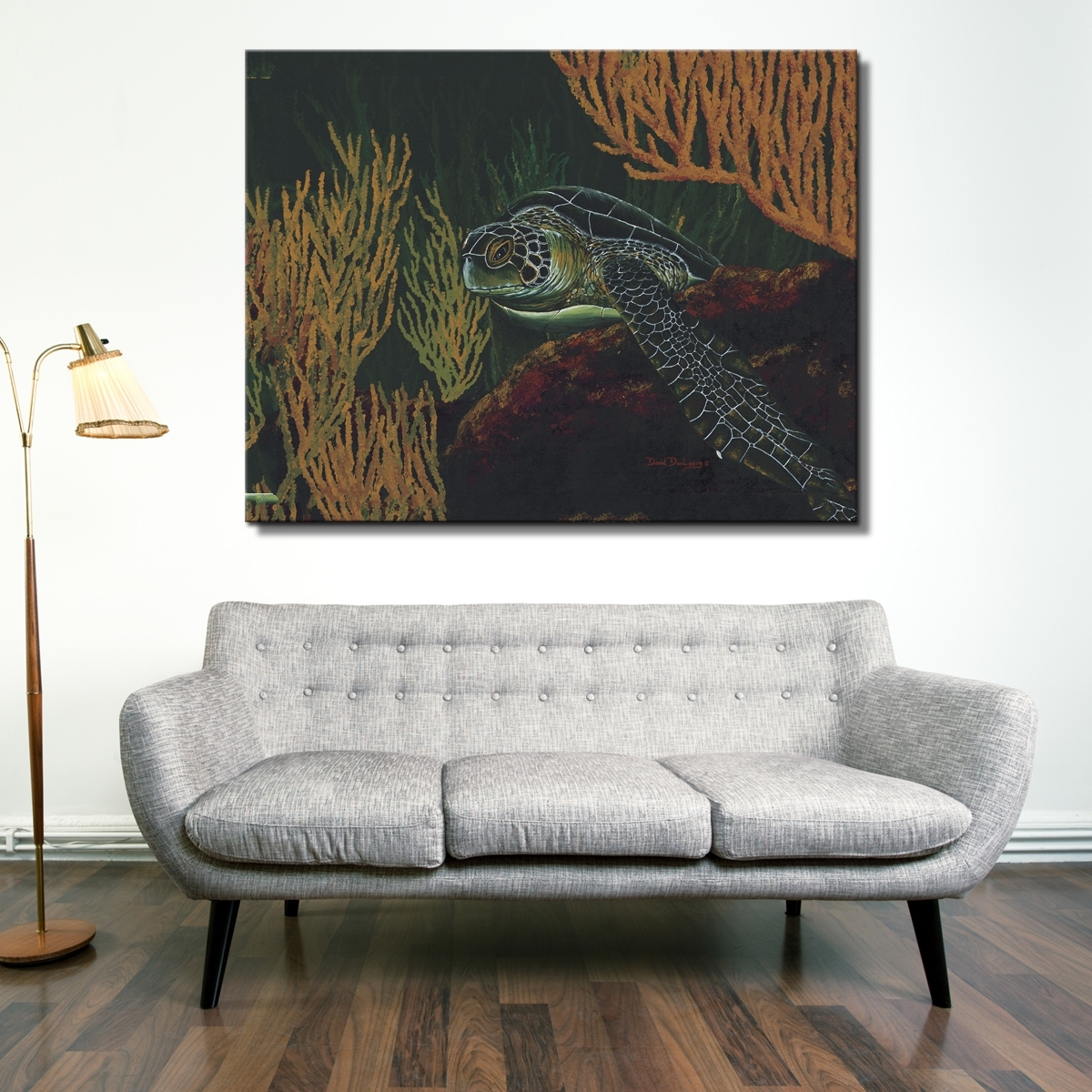 David Dunleavy 'black Sea Turtle' Canvas Wall Art – Free Shipping Within Recent Sea Turtle Canvas Wall Art (View 9 of 20)