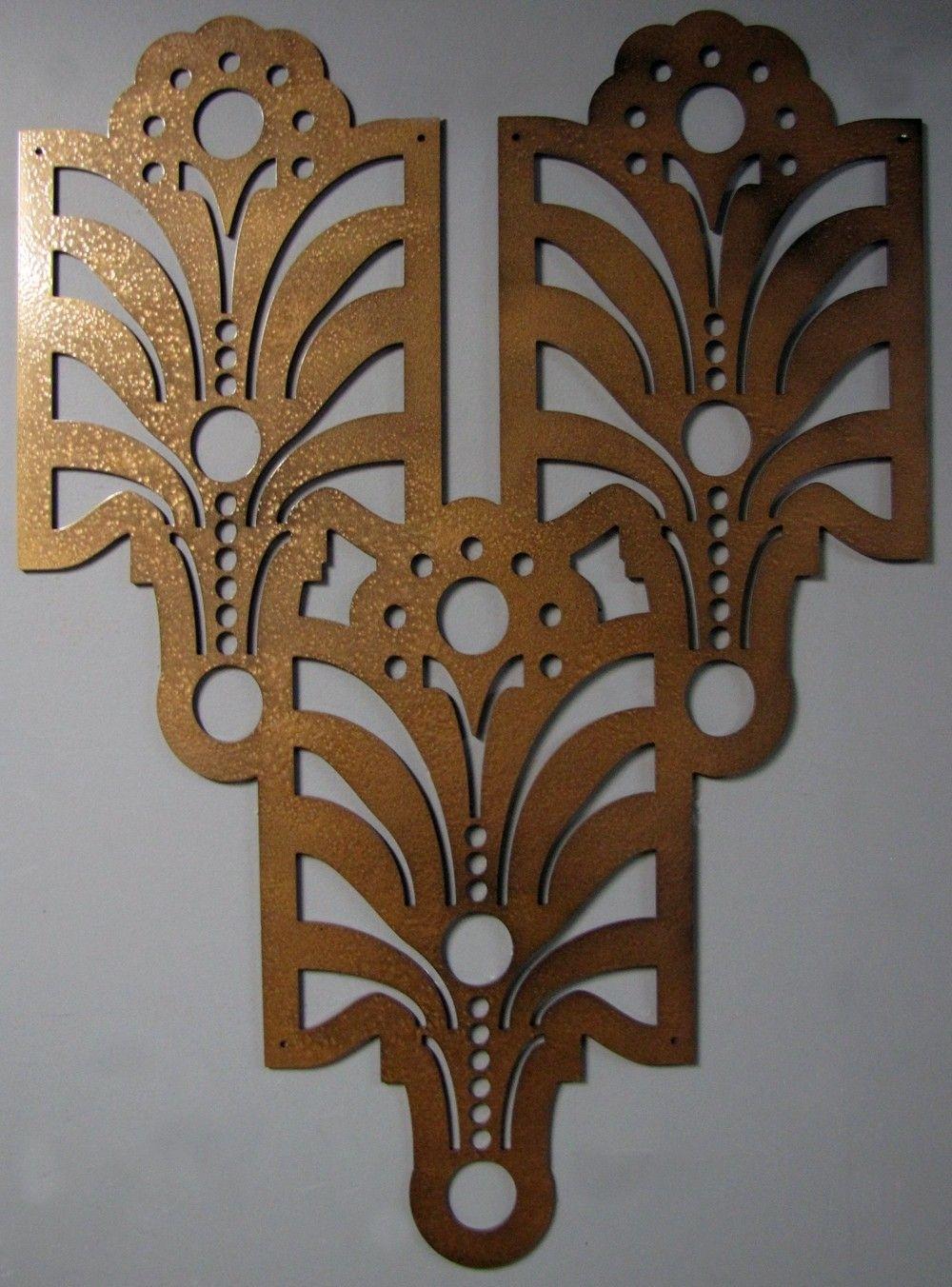 Deco Metal Wall Art | Art Deco | Pinterest | Metal Wall Art, Metal Regarding 2018 Art Deco Wall Art (View 10 of 20)