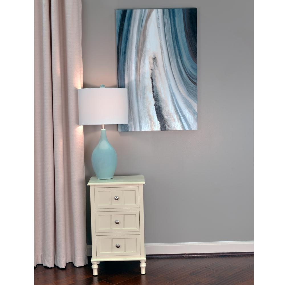 Decor Therapy 36 In. X 24 In. Grey Agate Stretched Painted Canvas Pertaining To Most Recent Agate Wall Art (Gallery 16 of 20)