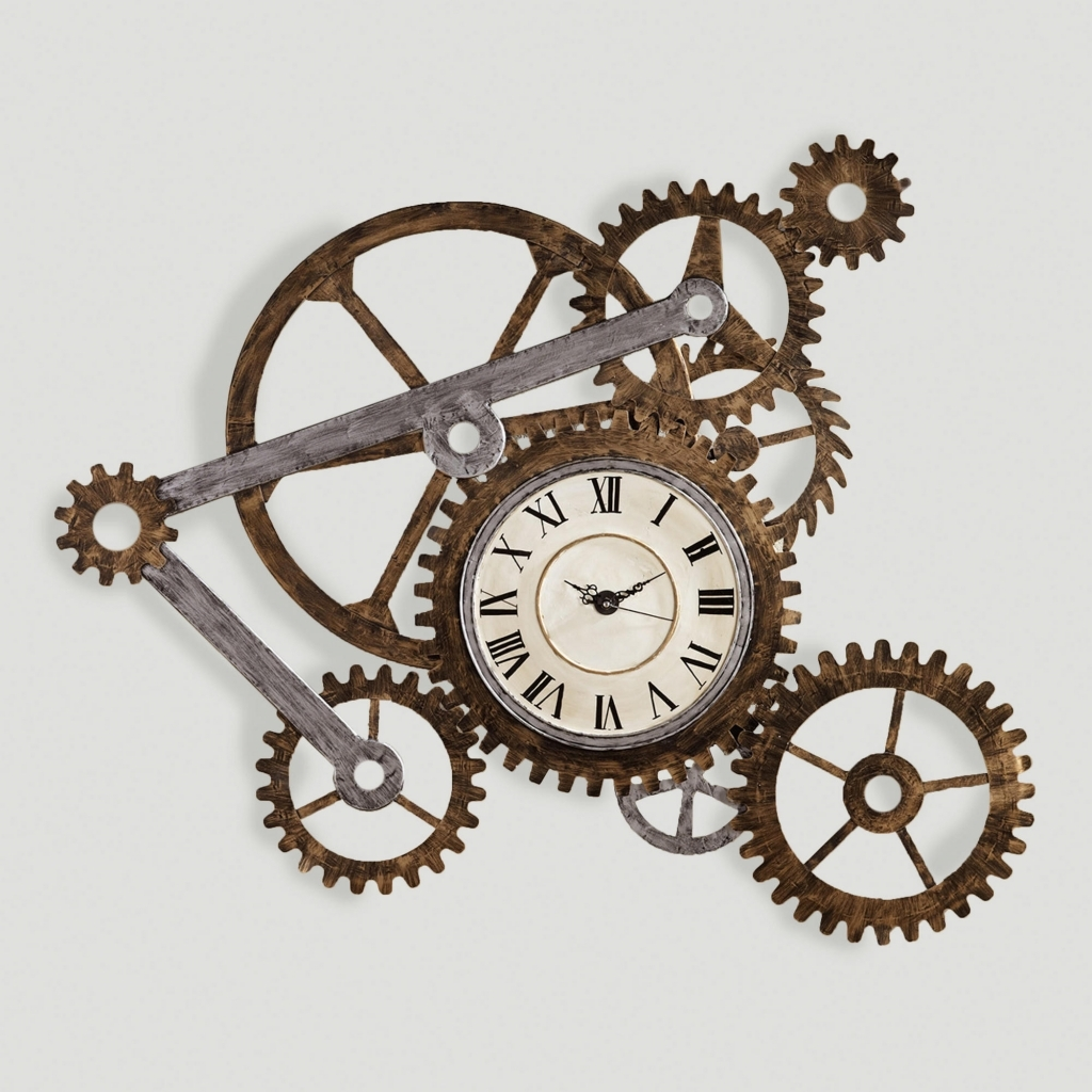 Decorating: Steampunk Wall Decor Cool Gear Wall Art With Clock World for Recent World Market Wall Art