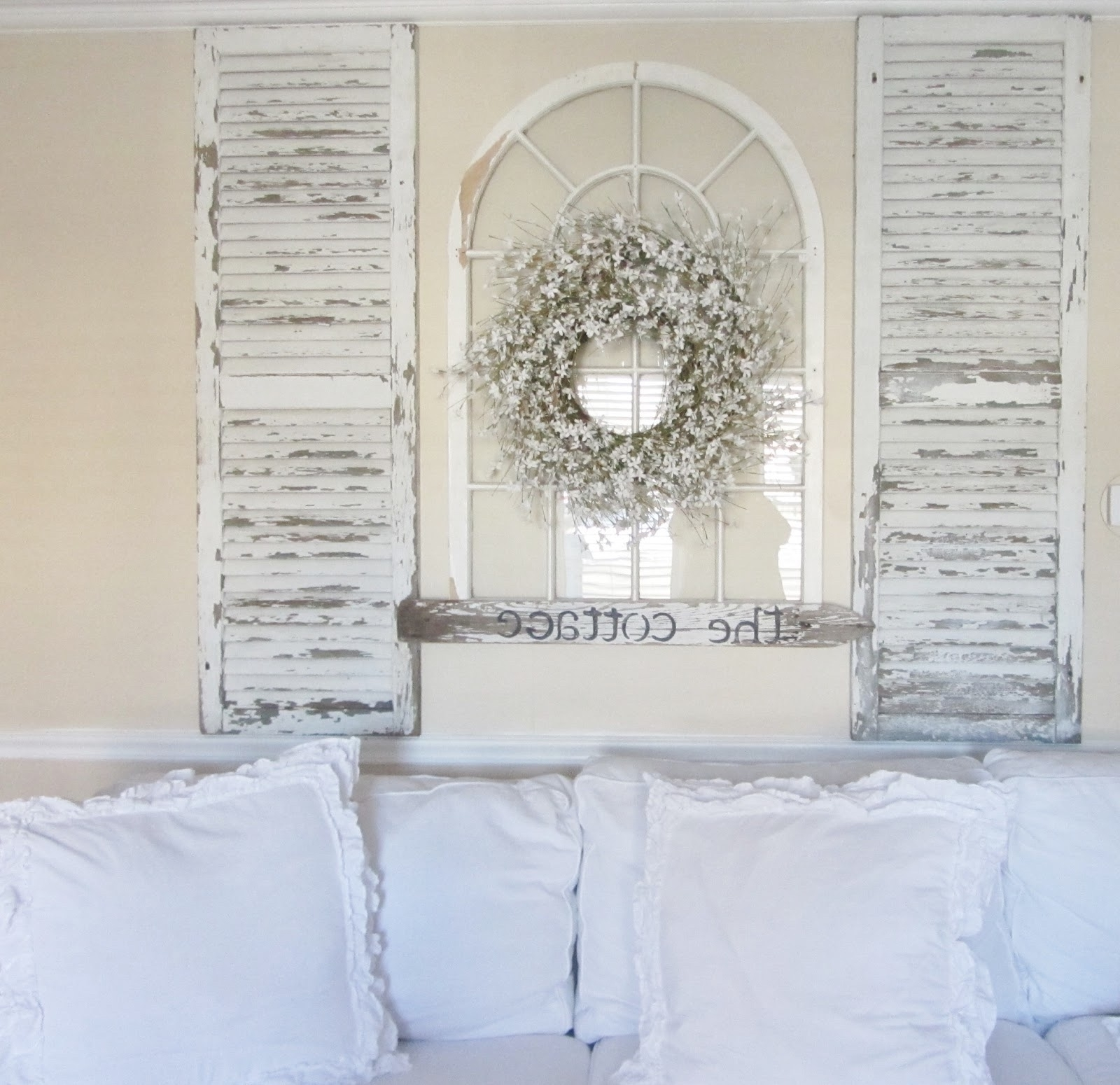 Decorating With Shutters Inside Wood Plank Wall Artdawn Derman Inside Most Popular Grey And White Wall Art (View 15 of 20)