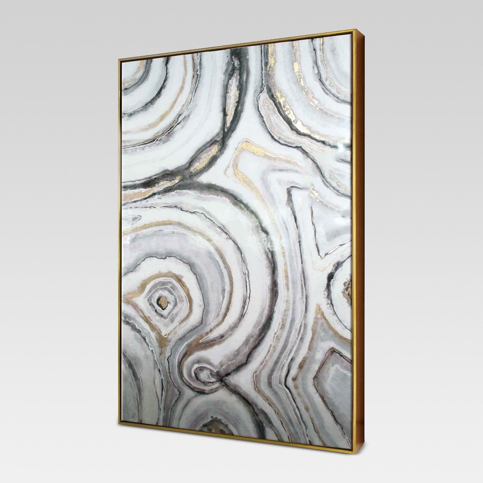 Decorations: Geode Framed High Gloss Canvas 40 | Target Wall Art Inside Most Recently Released Target Wall Art (Gallery 4 of 15)