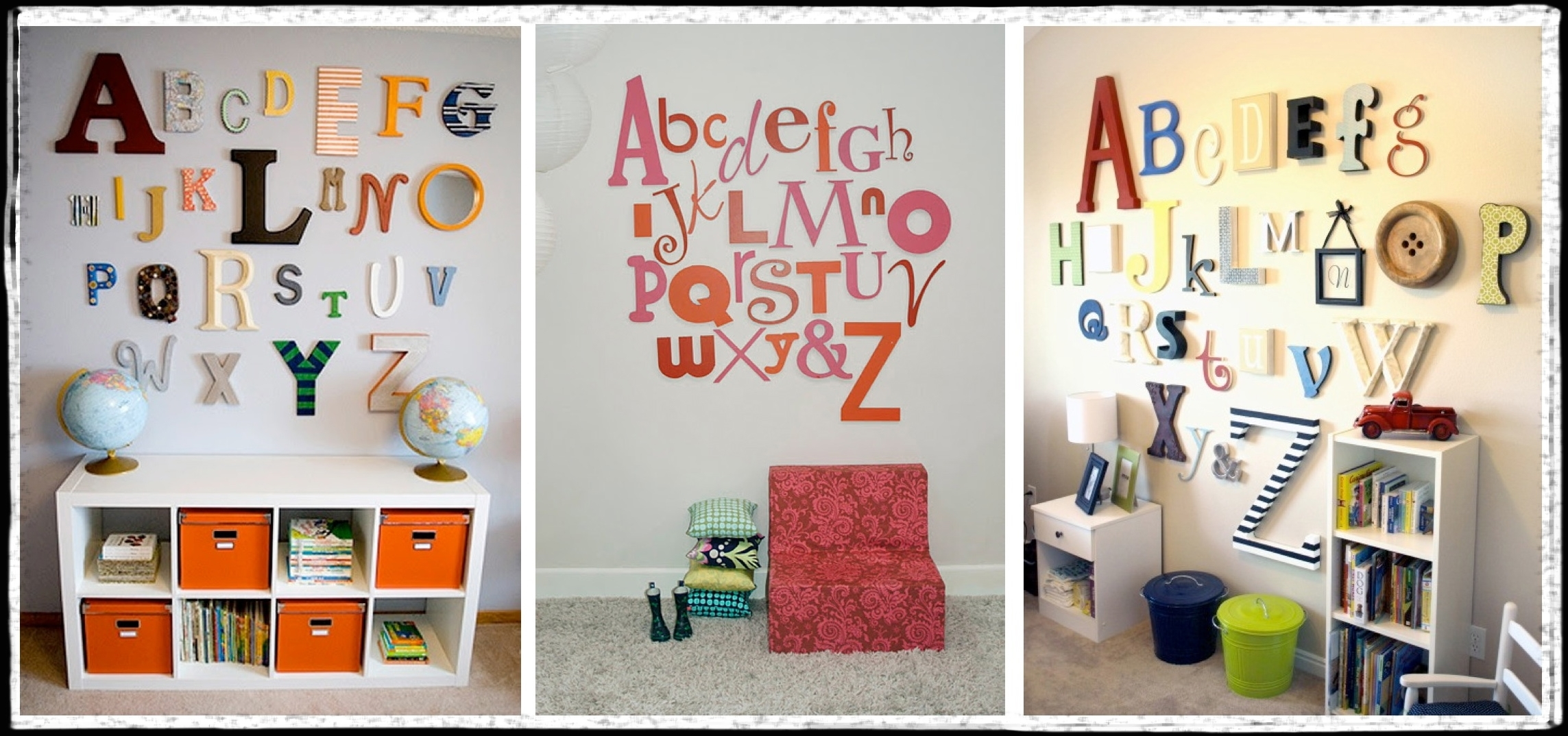 Decorative Letters For Walls | Sevenstonesinc with regard to Most Recent Letter Wall Art