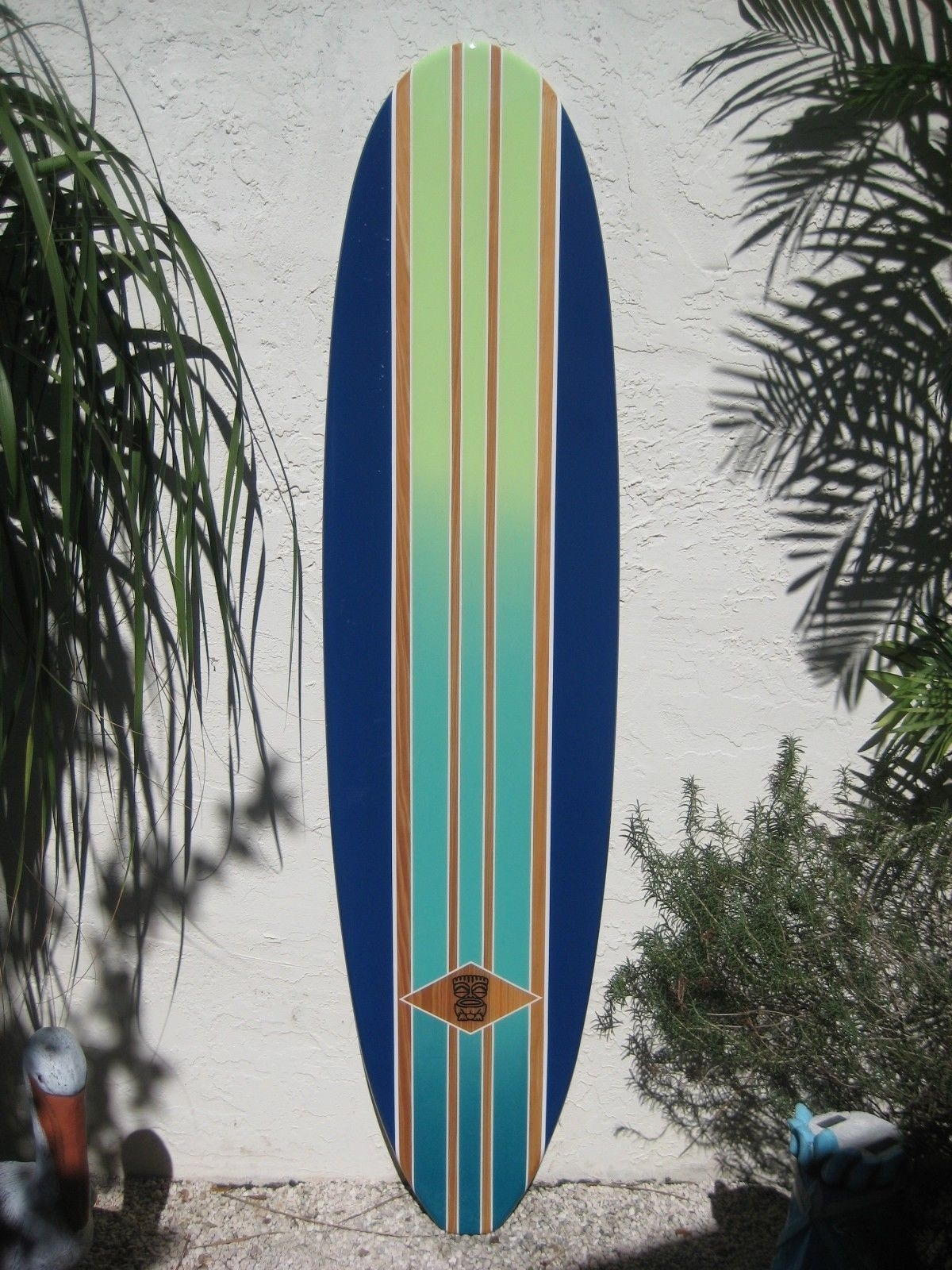 Decorative Wood Surfboard Wall Art Hawaiian Coastal Beach Home Wall With Regard To 2017 Surfboard Wall Art (View 8 of 20)