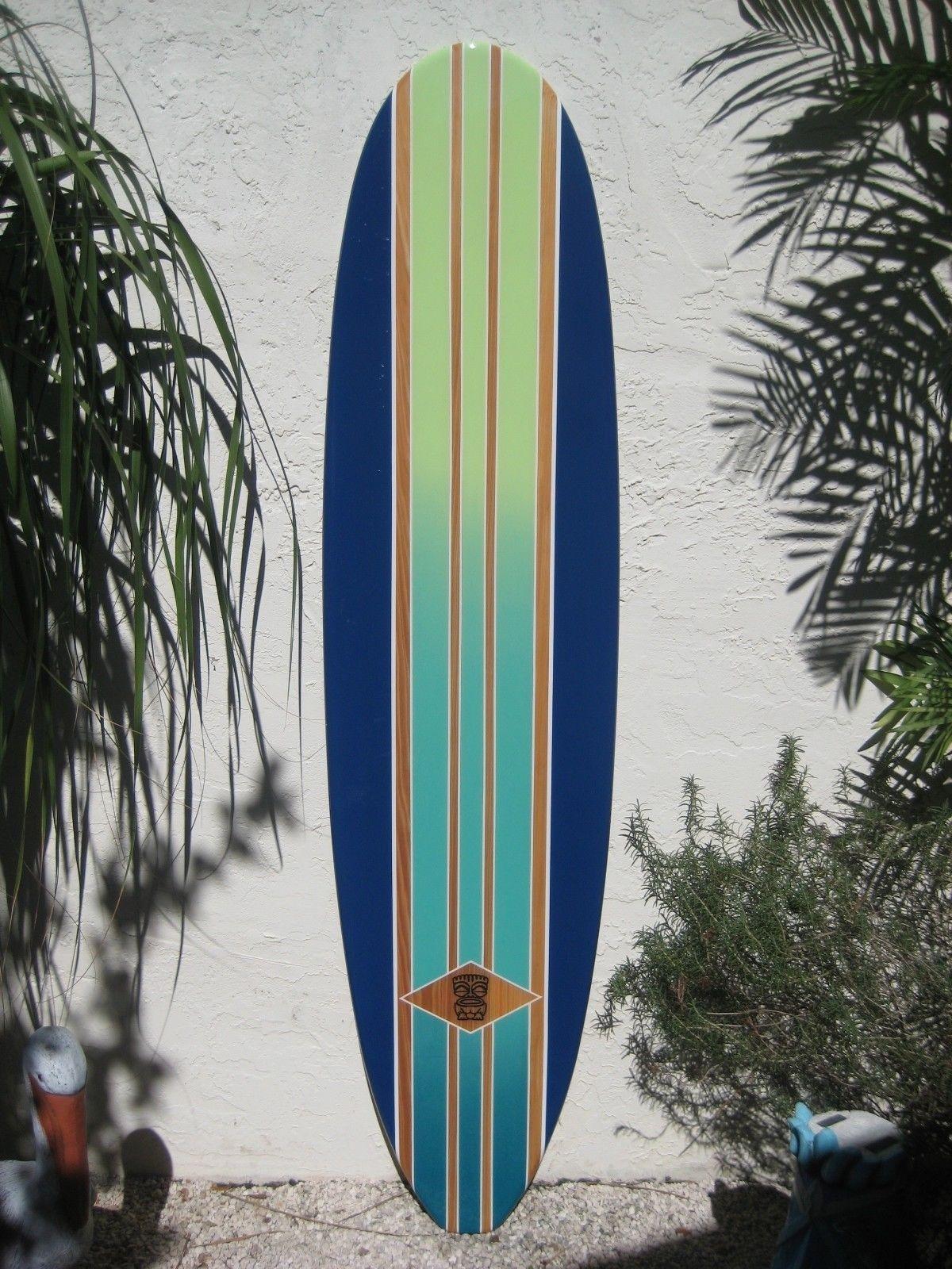 Decorative Wood Surfboard Wall Art Hawaiian Coastal Beach Home Wall With Regard To 2017 Surfboard Wall Art (Gallery 20 of 20)