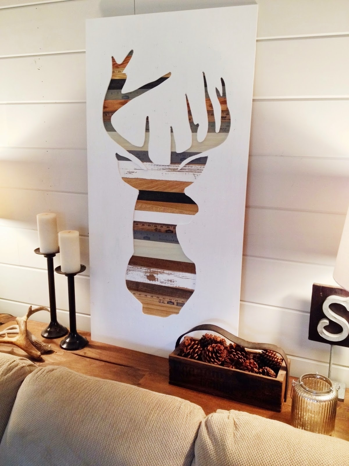 Deer Silhouette Wall Art All Wood Decor Diy – Jumpstartcoffee With Newest Diy Wood Wall Art (View 4 of 20)