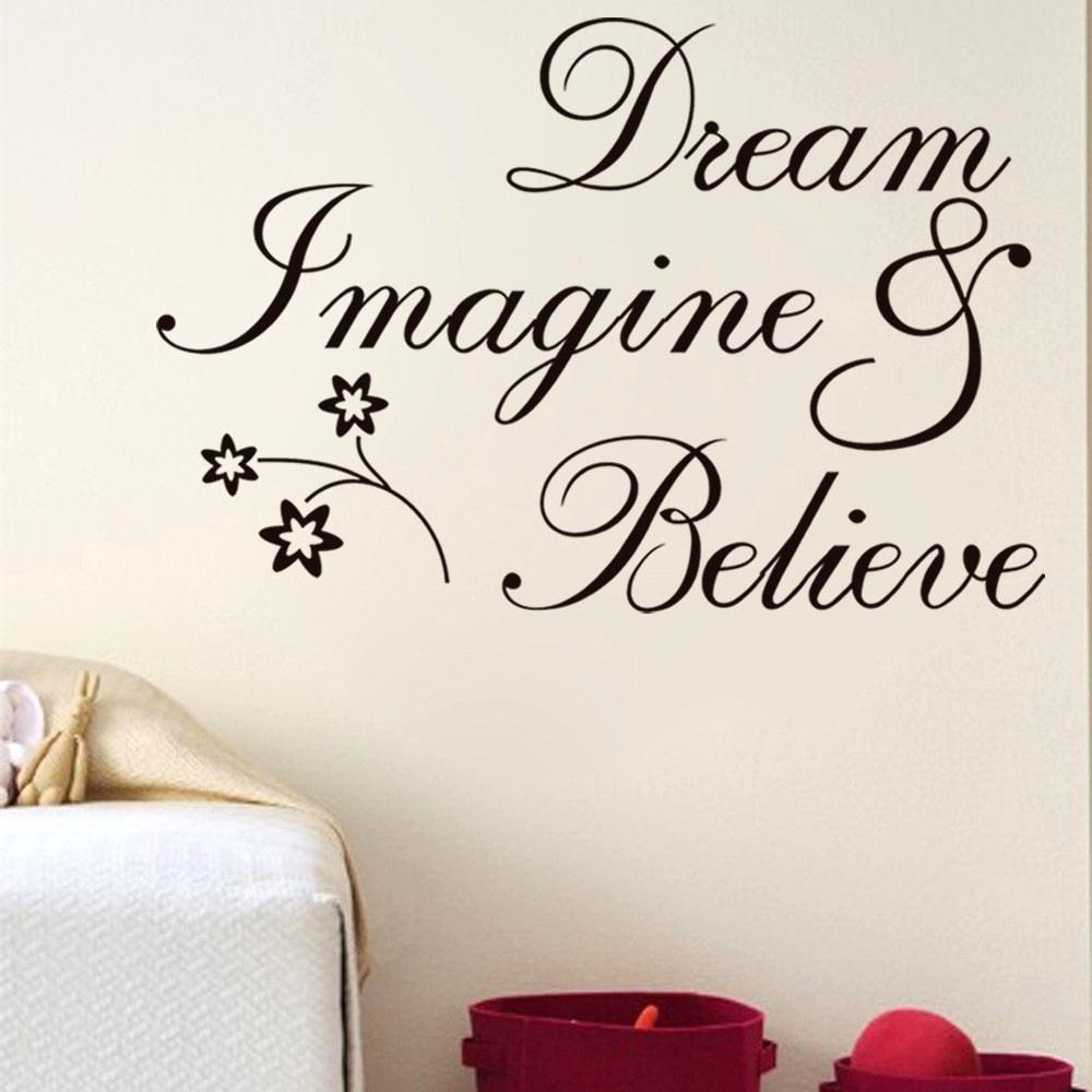 Delectable Outstanding Wall Decorations Goodly Art Words Stickers Regarding 2017 Word Art For Walls (Gallery 5 of 20)