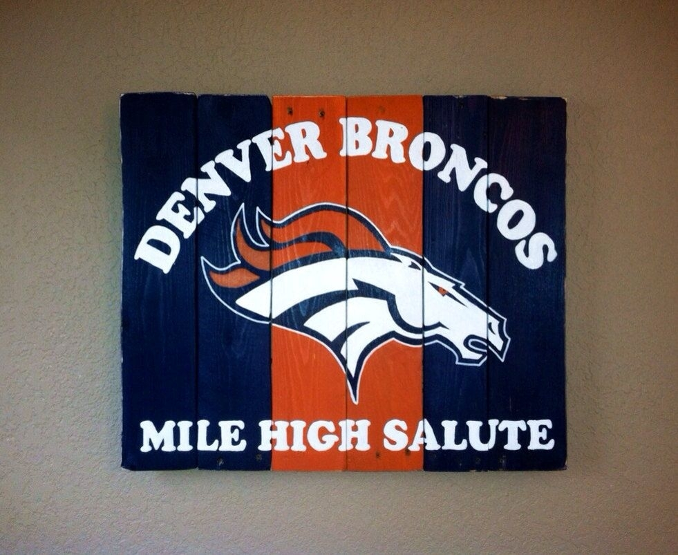 Denver Broncos Mile High Salute Wall Artkristalianedesigns With Regard To Best And Newest Broncos Wall Art (View 11 of 20)