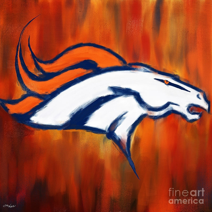 Denver Broncos Paintinglourry Legarde With Regard To Current Broncos Wall Art (Gallery 1 of 20)