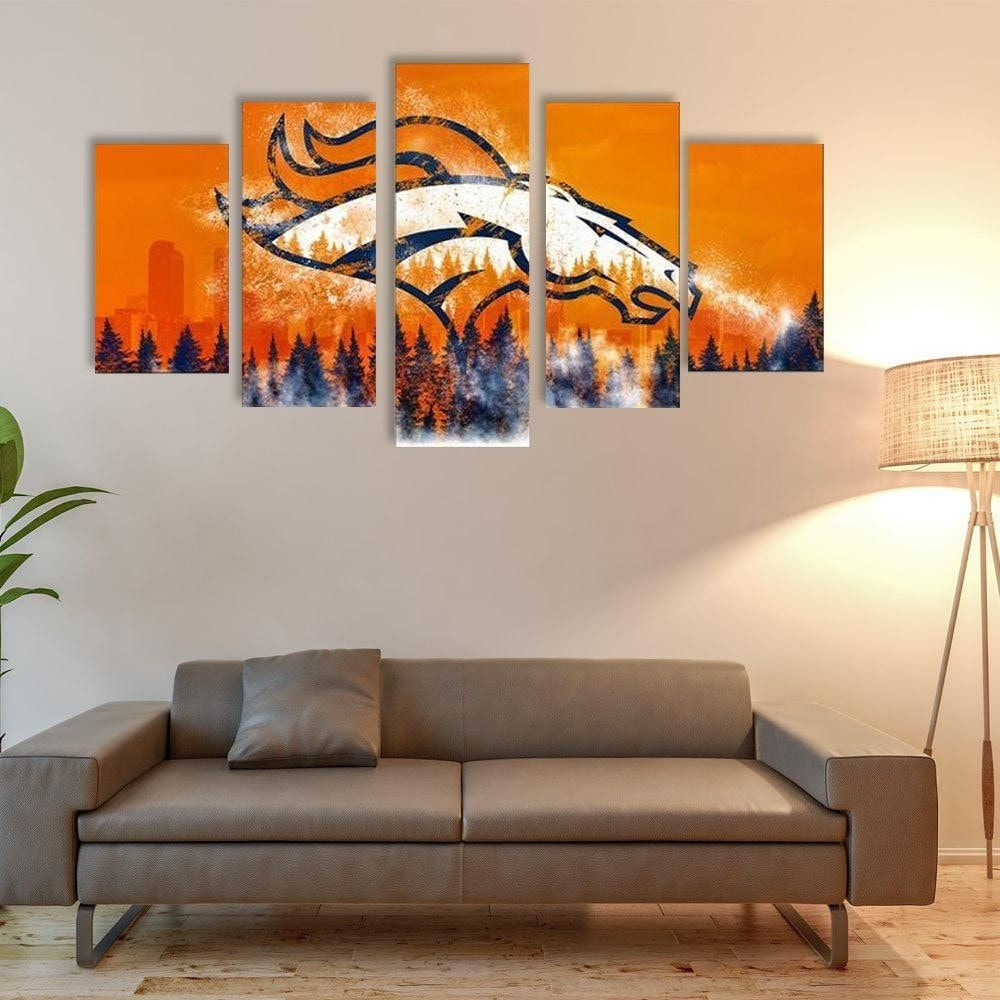 Denver Broncos Room Decor New Denver Broncos Canvas Jersey Wall Art In Most Recent Broncos Wall Art (Gallery 8 of 20)