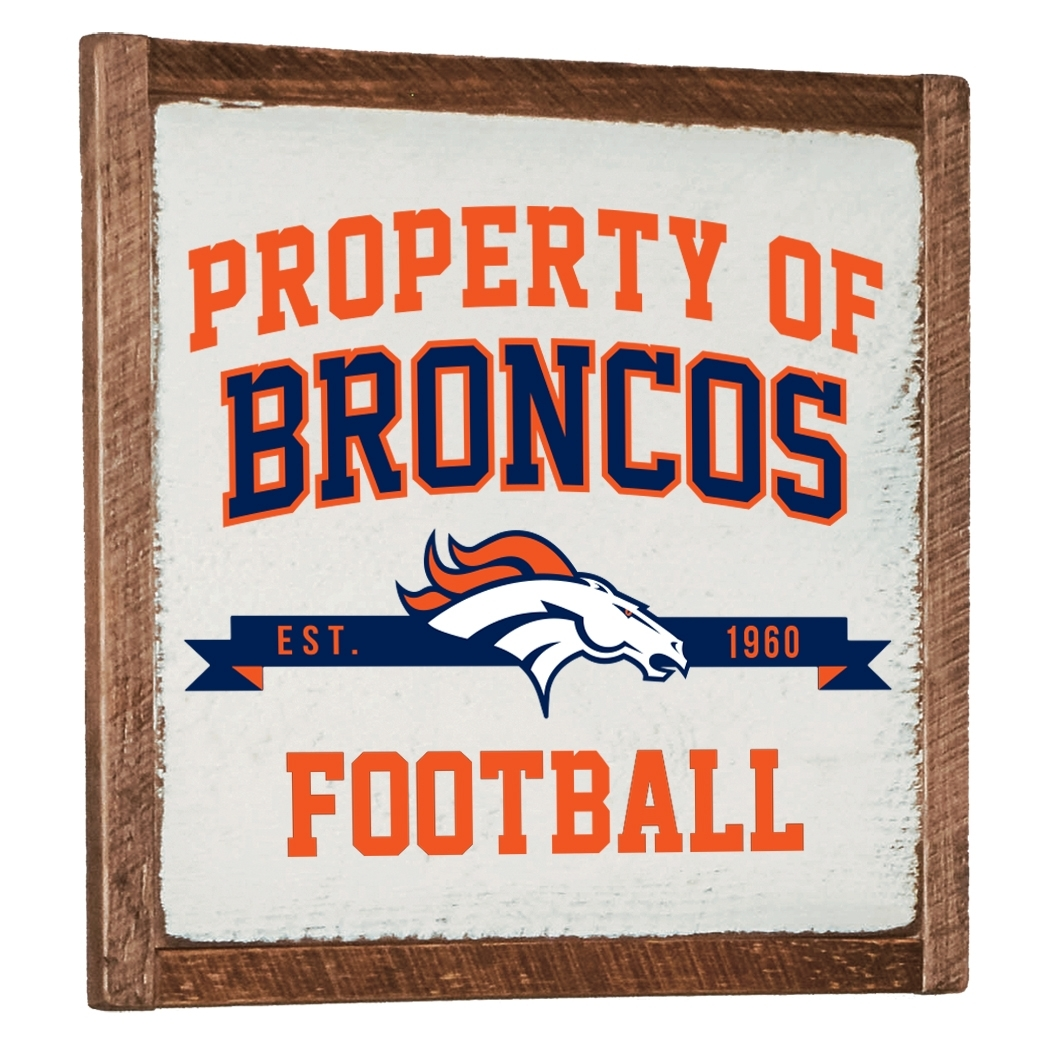 Denver Broncos Vintage Wall Art with 2018 Broncos Wall Art