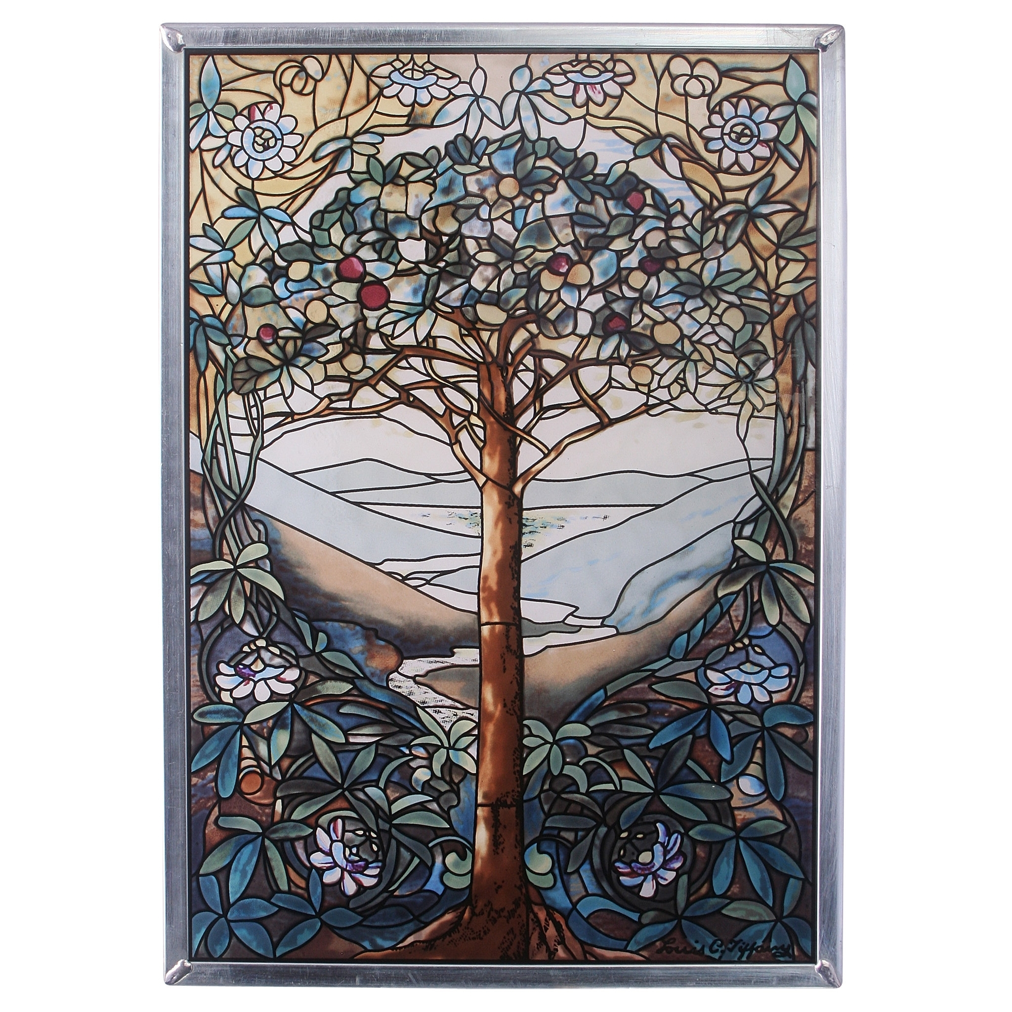 Design Toscano Tree Of Life Art Glass Wall Décor & Reviews | Wayfair With Most Current Stained Glass Wall Art (View 6 of 20)