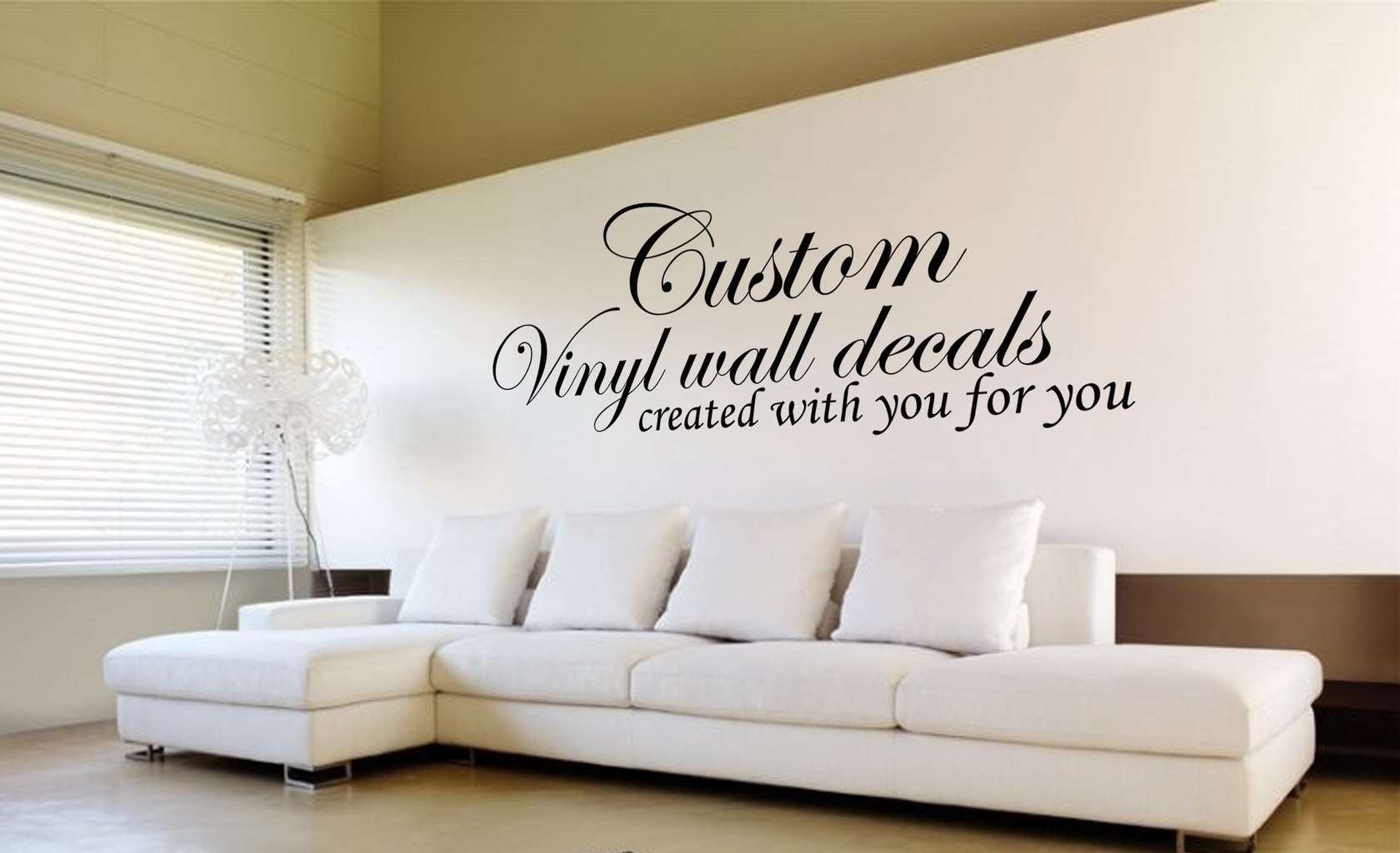 Design Your Own Quote | Custom Wall Art Decal Sticker Pertaining To Best And Newest Wall Art Decals (View 7 of 15)