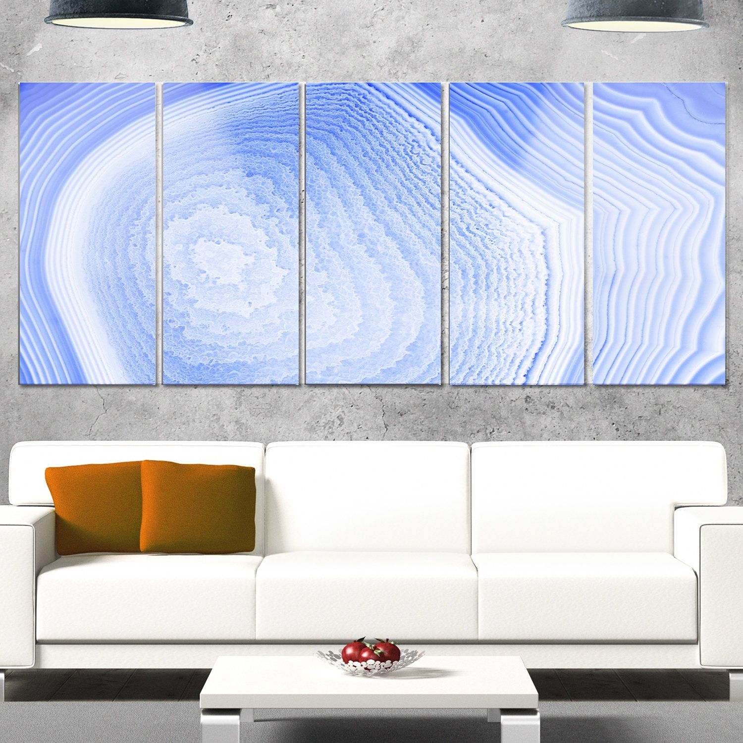 Designart 'dark Agate Structure' Modern Abstract Glossy Metal Wall For Most Up To Date Overstock Wall Art (View 3 of 20)