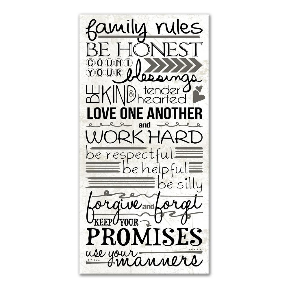Featured Photo of Family Rules Wall Art