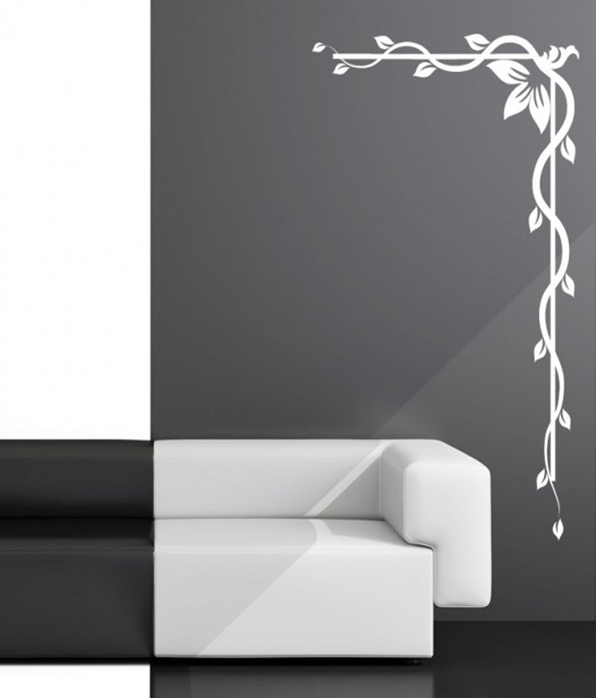 Destudio – Decorative Floral Corner – Wall Art Stickers And Wall Inside Most Recent Corner Wall Art (View 9 of 20)