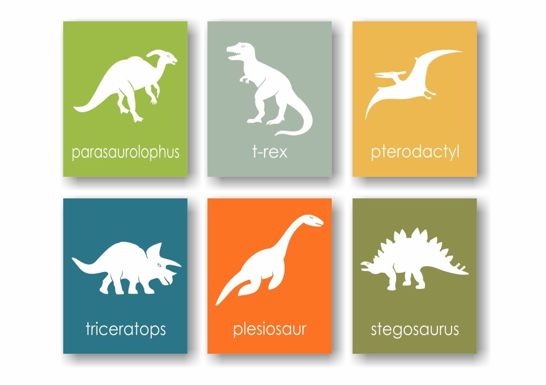 Dinosaur Wall Art Roselawnlutheran, Dino Nursery Wall Decor – Acrossee Throughout Most Current Dinosaur Wall Art (View 9 of 20)