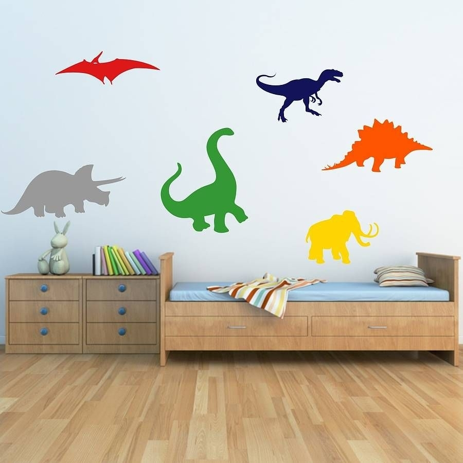 Dinosaurs Kids Wall Stickers | Kids Wall Stickers, Wall Sticker And Intended For Newest Dinosaur Wall Art (View 10 of 20)