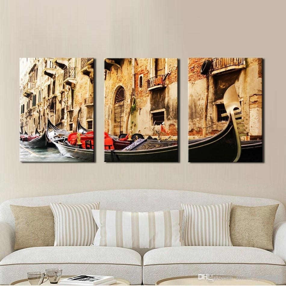 Discount 3 Panel Wall Art Painting On Canvas Oil Painting Famous Intended For Best And Newest Discount Wall Art (View 3 of 20)