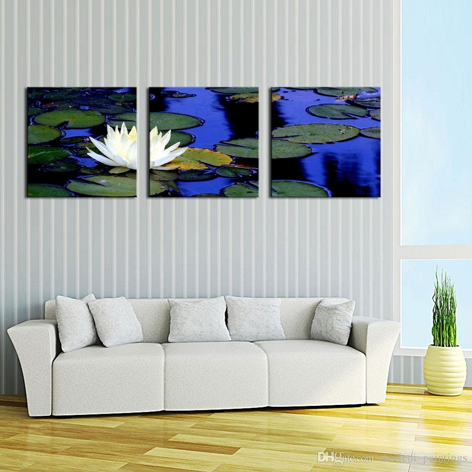Discount Lotus Pond In Chinese Style Wall Art Painting Print On With Regard To 2018 Discount Wall Art (View 9 of 20)