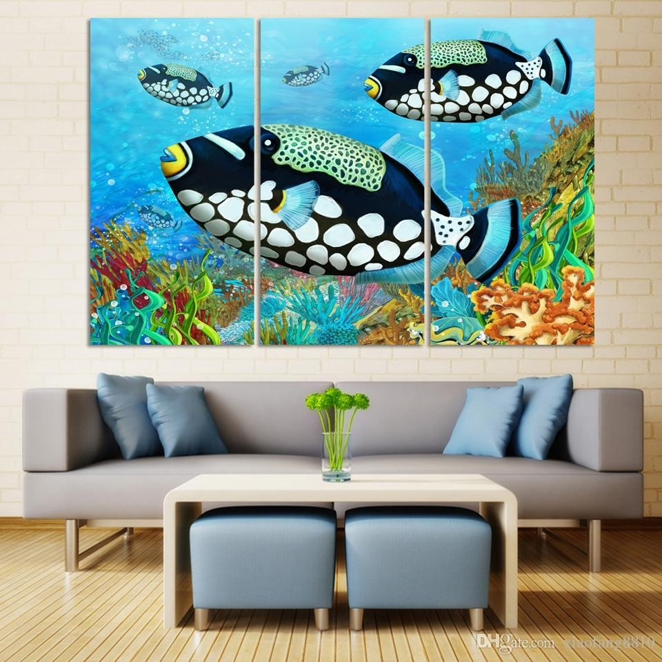 Discount Wall Art Hd Ocean Colorful Fish Modern Picture Print On Throughout Most Current Discount Wall Art (View 11 of 20)
