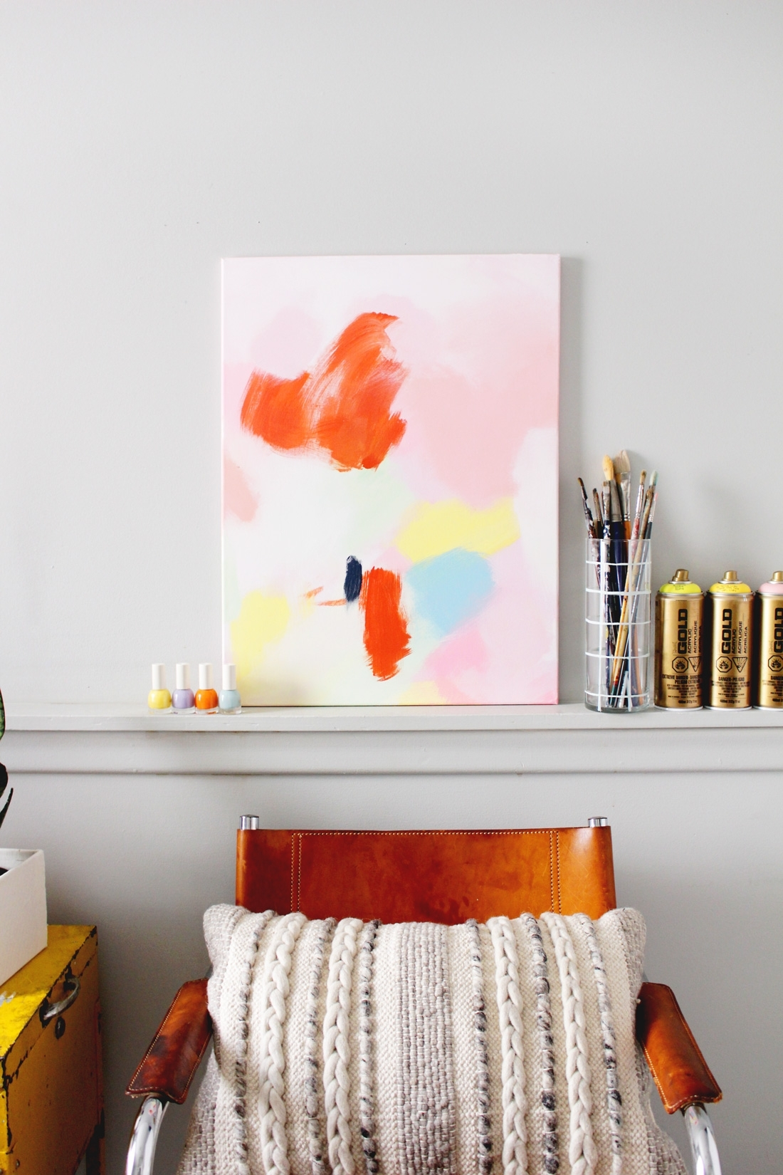 Diy Anthropologie Acrylic Wall Art On Brit + Co | Fish & Bull For Most Recent Anthropologie Wall Art (View 18 of 20)
