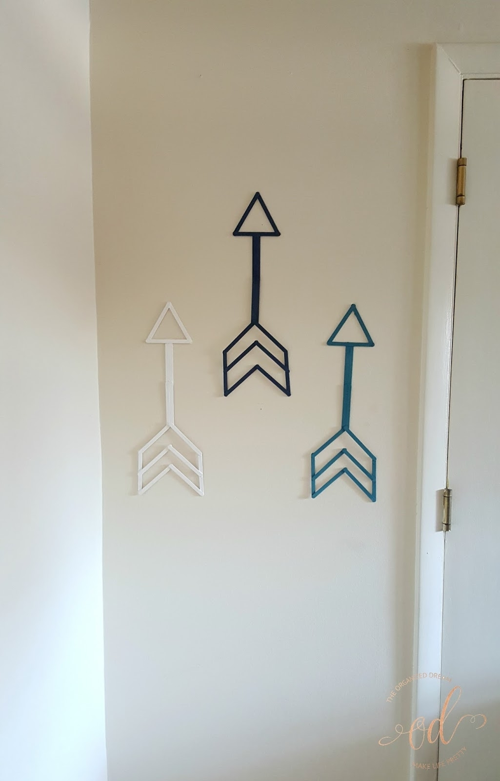 Diy Arrow Wall Art – The Organized Dream In Latest Arrow Wall Art (View 7 of 20)