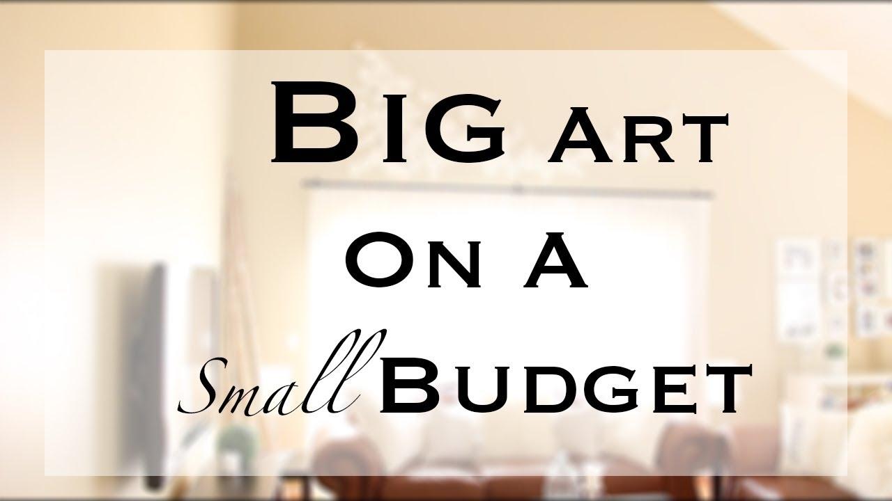 Diy Big/large Wall Art - Youtube pertaining to Recent Wall Art Cheap