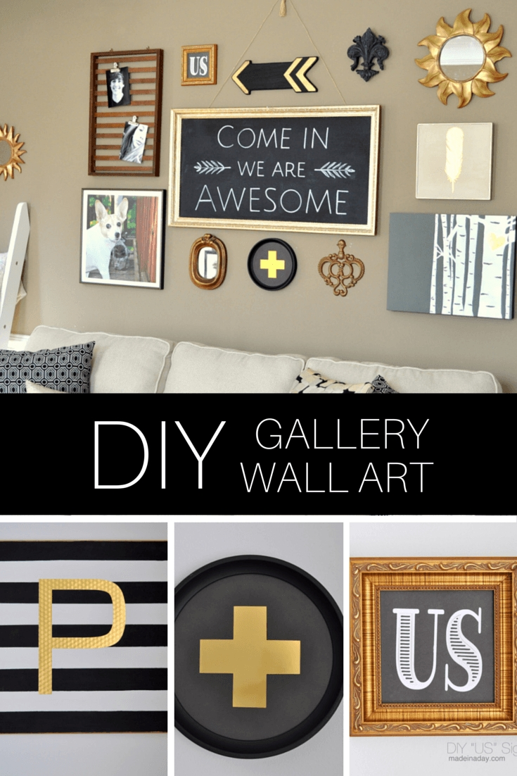 Diy Black Gold Gallery Wall Regarding Newest Black And Gold Wall Art (View 10 of 20)