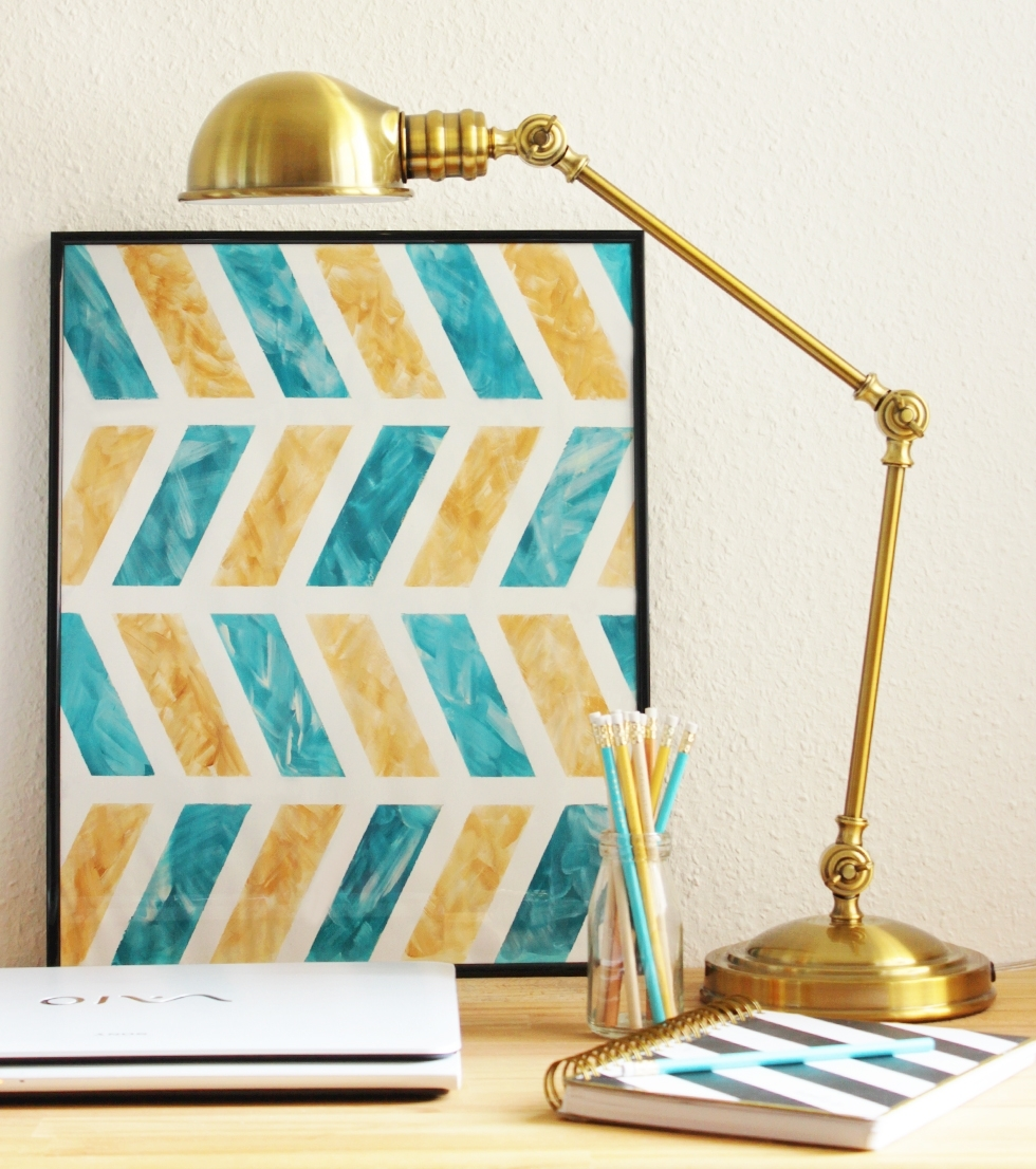 Diy Chevron Wall Art intended for 2018 Chevron Wall Art