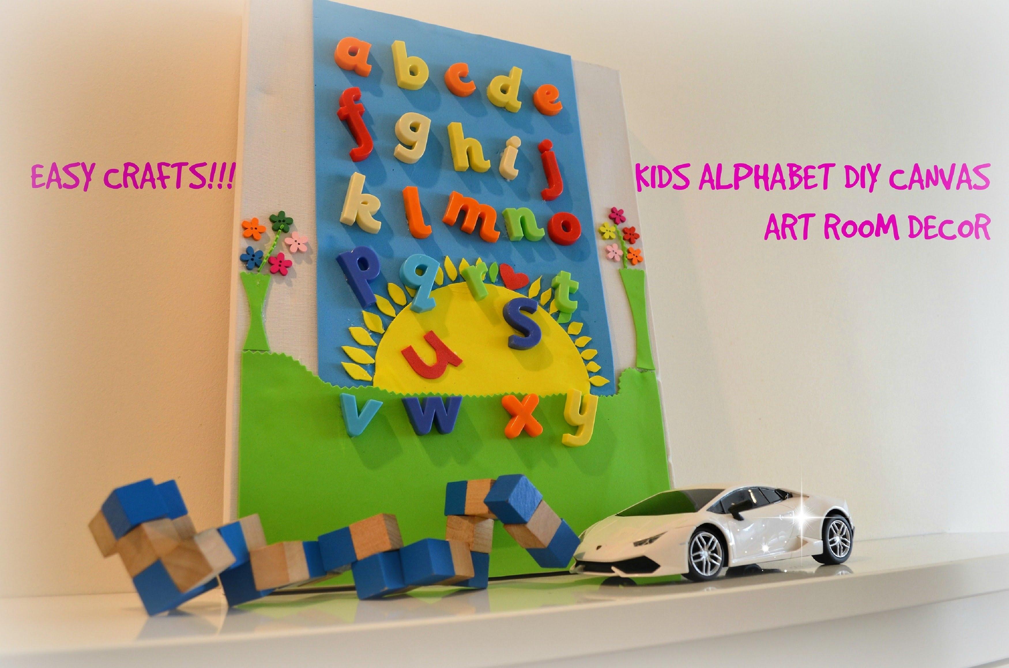 Diy Crafts : Diy 3D Canvas Alphabet Wall Art, Room Decor For Kids Regarding Most Popular Alphabet Wall Art (View 13 of 20)