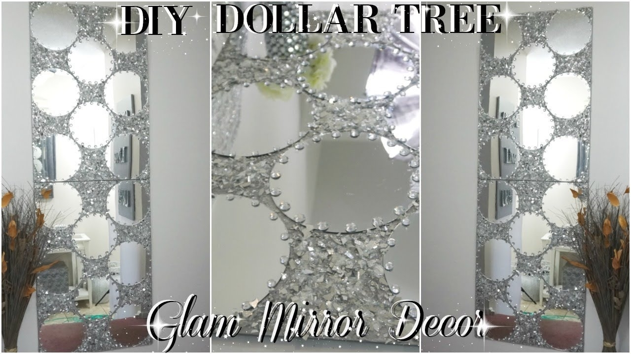 Diy Dollar Tree | Diy Mirrored Wall Art Decor | Zgallerie Inspired With 2018 Mirrored Wall Art (View 4 of 20)