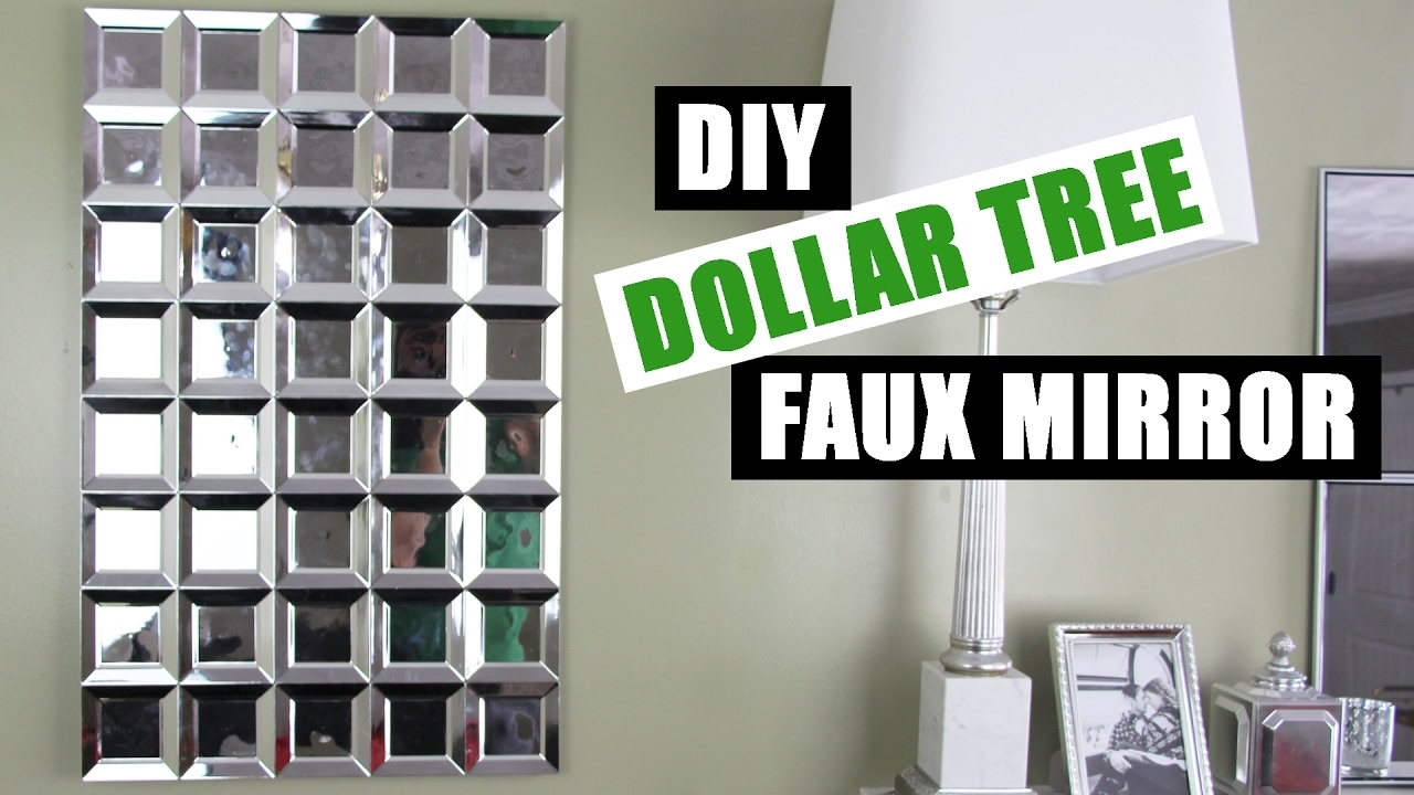 Diy Dollar Tree Glam Faux Mirror Wall Art | Easy Z Gallerie Inspired Throughout Most Up To Date Mirror Wall Art (View 5 of 15)