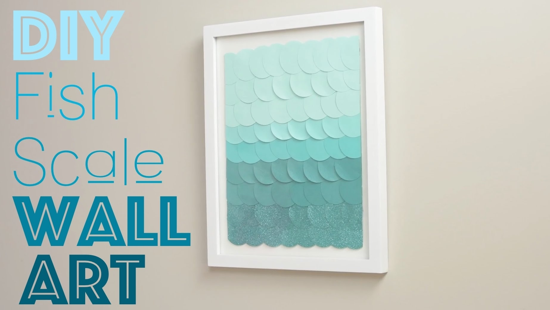 Diy Fish Scale Wall Art – Youtube With Most Recent Wall Art Diy (View 4 of 20)