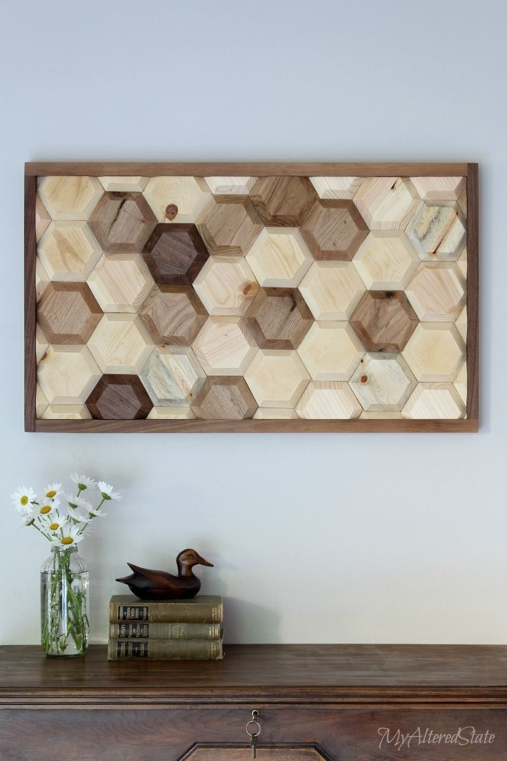 Diy Geometric Wood Art Wood Wall Art, Wood Walls And Woods - Super Tech for Newest Diy Wood Wall Art