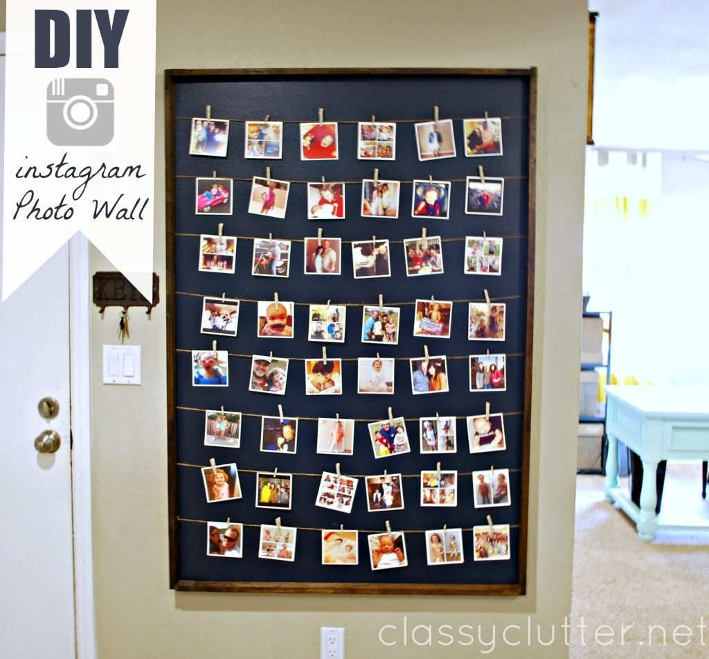 Diy Instagram Photo Wall Display for Most Current Instagram Wall Art