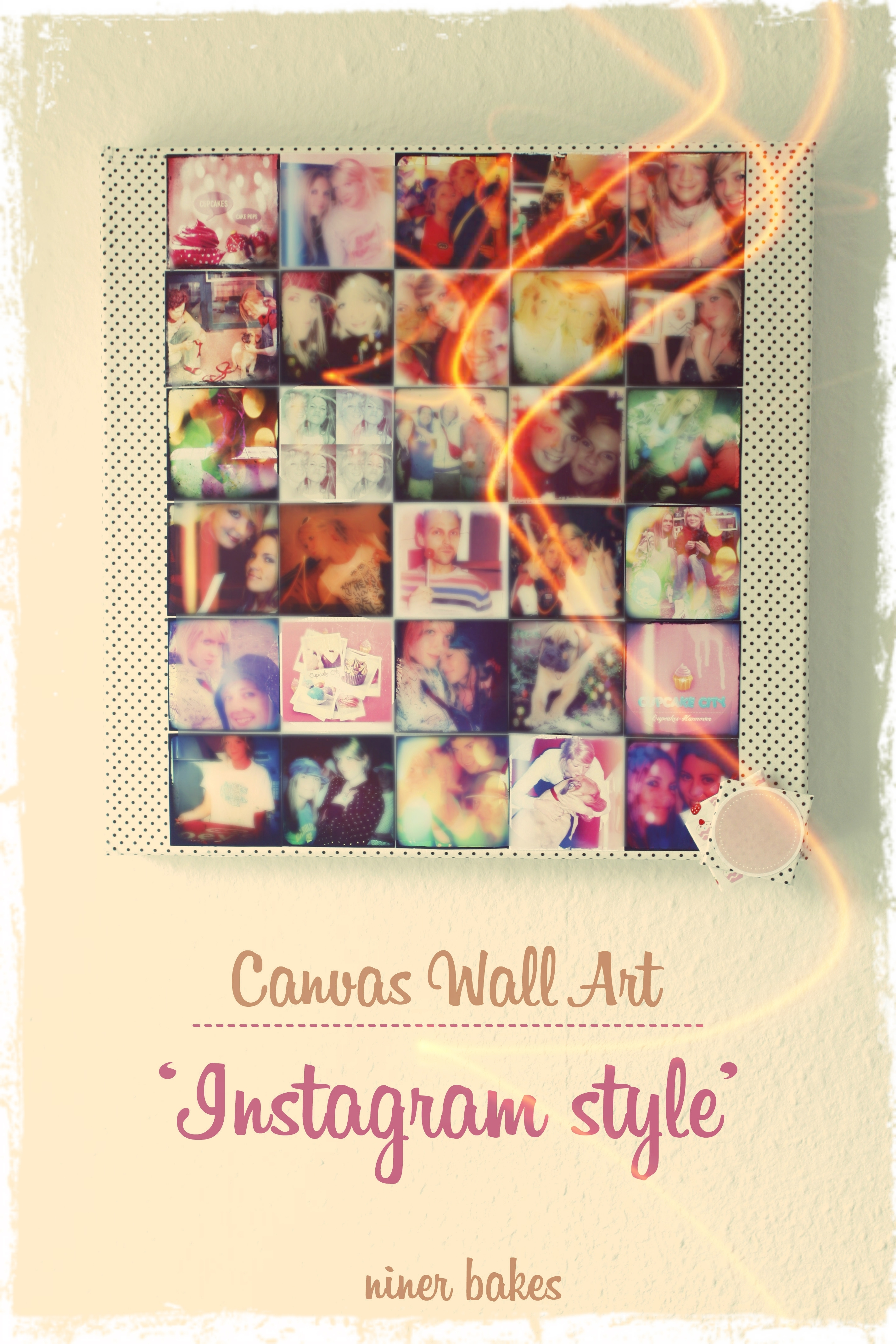 Diy – Instagram Wall Art: Make Your Own Instagram Canvas | Niner Bakes Within Most Recently Released Instagram Wall Art (View 6 of 20)