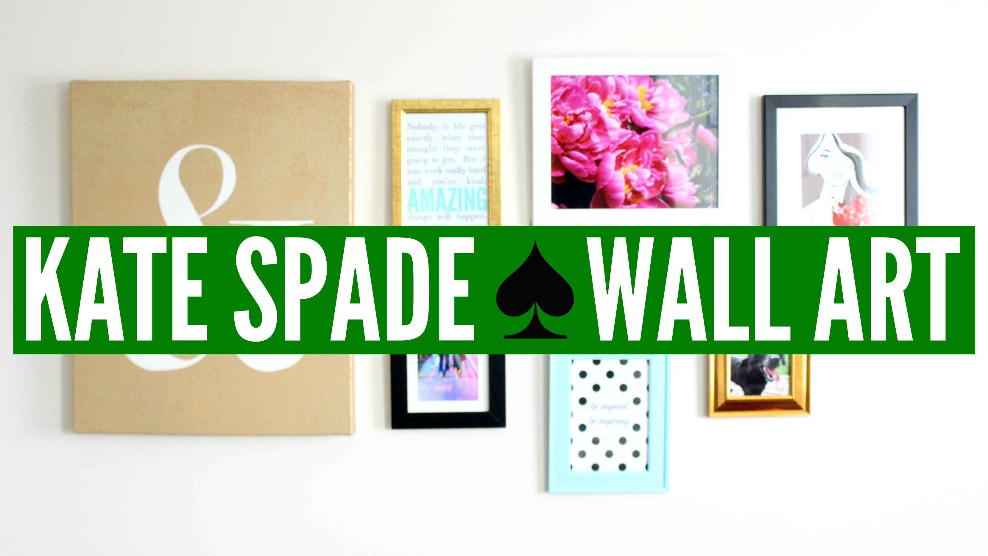 Diy Kate Spade ? Wall Art (collage) | Now&jenn – Youtube Within Best And Newest Kate Spade Wall Art (View 1 of 20)