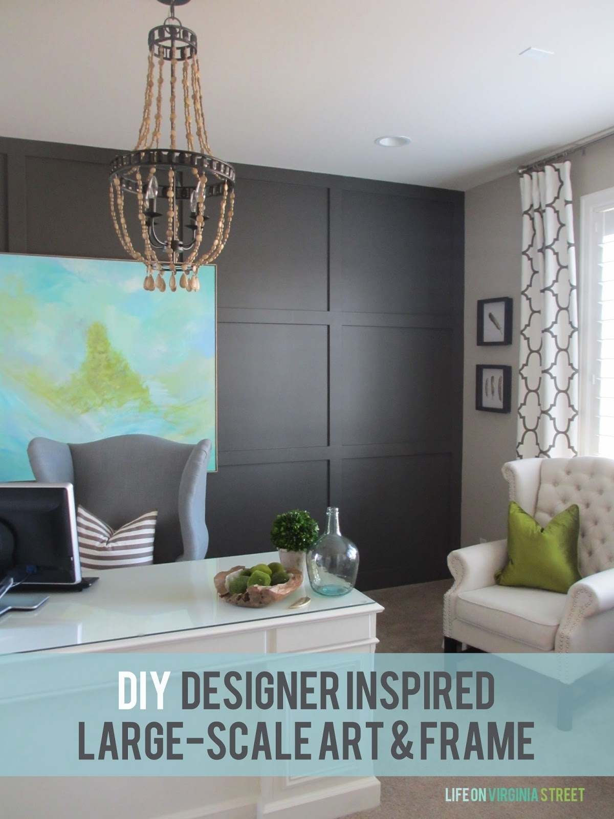 Diy Large Scale Art – Designer Inspired! | Life On Virginia Street Within Newest Cheap Large Wall Art (View 15 of 20)