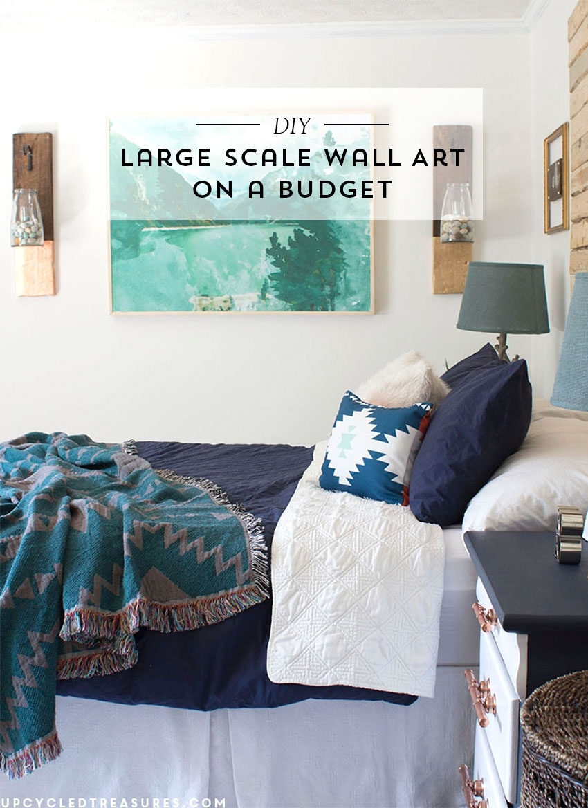 Diy Large Scale Wall Art | Mountain Modern Life in Most Recent Large Wall Art
