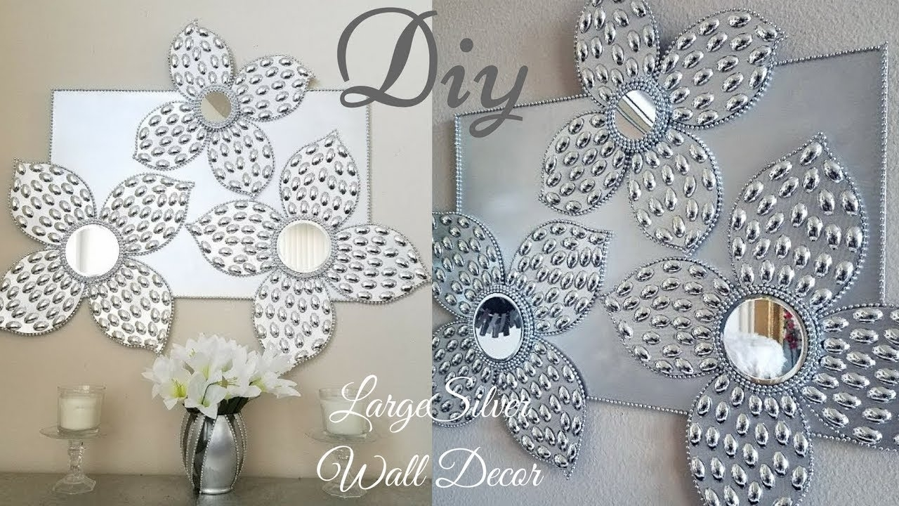 Diy Large Silver Wall Decor Using Dollar Tree Items|Simple And Intended For 2017 Silver Wall Art (View 4 of 20)