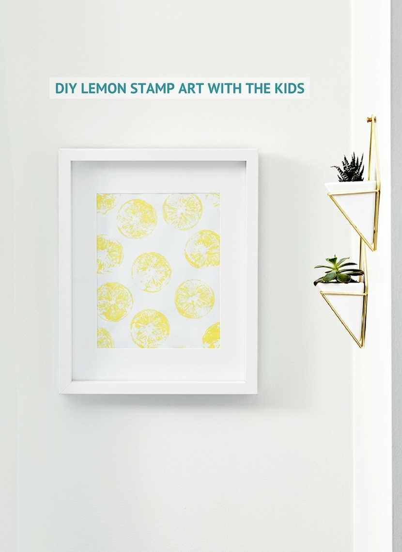 Diy Lemon Stamp Art With The Kids For Recent Lemon Wall Art (View 7 of 20)