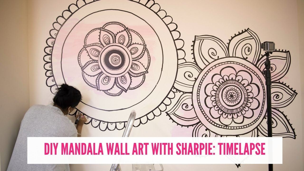 Diy Mandala Wall Drawing With Sharpie! – Youtube For Most Recently Released Mandala Wall Art (View 13 of 20)