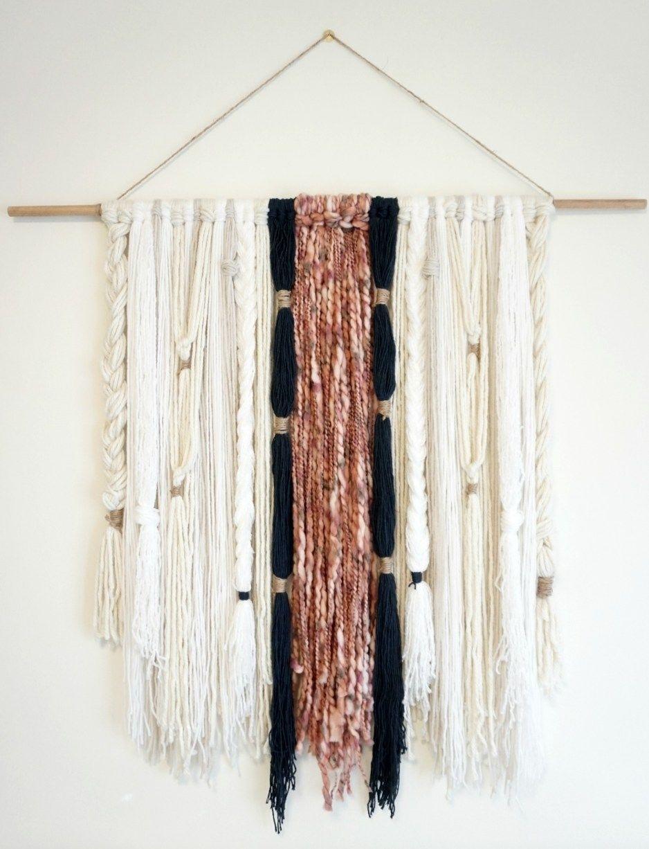 Diy: Modern Boho Yarn Wall Hanging | Yarn Wall Hanging, Modern Boho Regarding Most Recent Yarn Wall Art (View 11 of 20)
