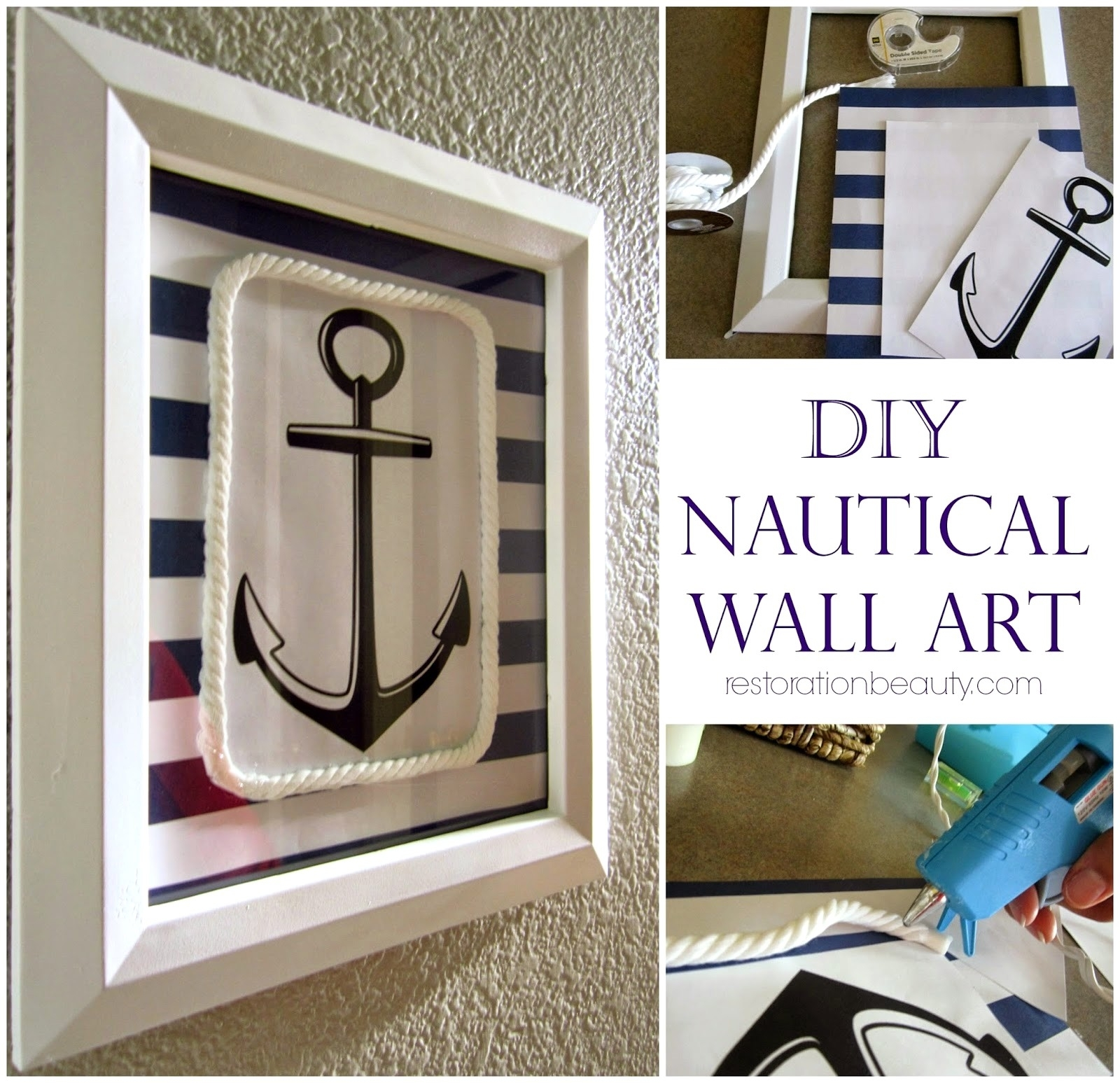 Diy Nautical Wall Art 17 Anchor Decor | Albertstreetmotors Pertaining To Most Current Nautical Wall Art (View 3 of 15)