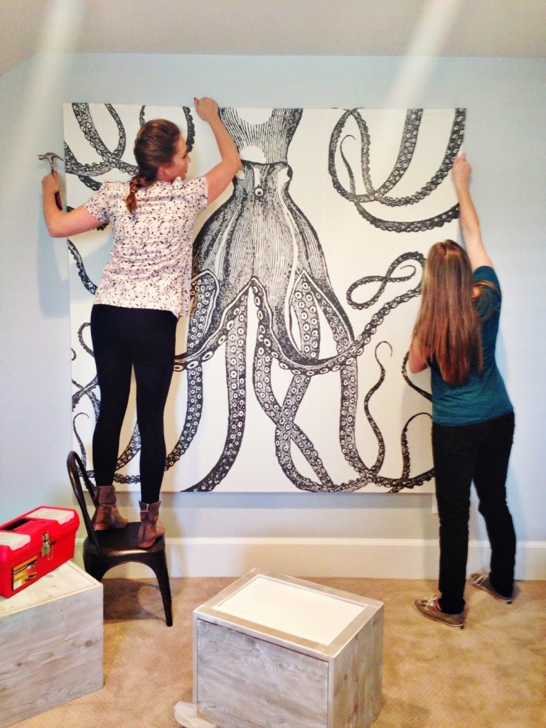 Diy Octopus Art – House Of Jade Interiors Blog Intended For Most Popular Octopus Wall Art (View 4 of 20)