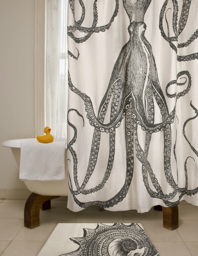Diy Octopus Art – House Of Jade Interiors Blog Pertaining To 2018 Shower Curtain Wall Art (View 3 of 20)