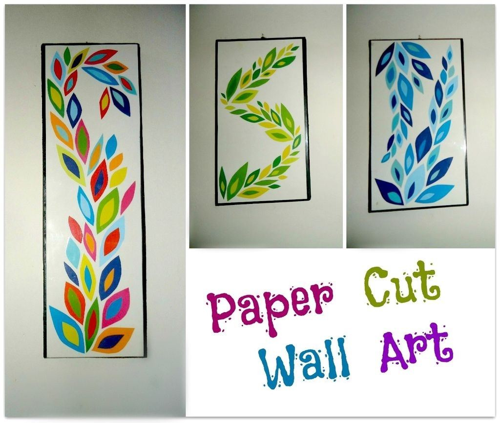 Diy Paper Cut Wall Art: 6 Steps (With Pictures) with Most Up-to-Date Paper Wall Art