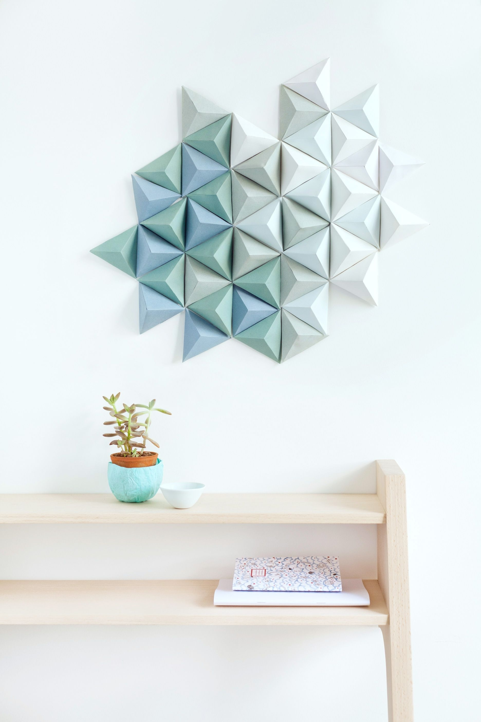 Diy Paper Triangle || Knot Magazine, Great French Online Diy With 2018 Geometric Wall Art (Gallery 6 of 20)
