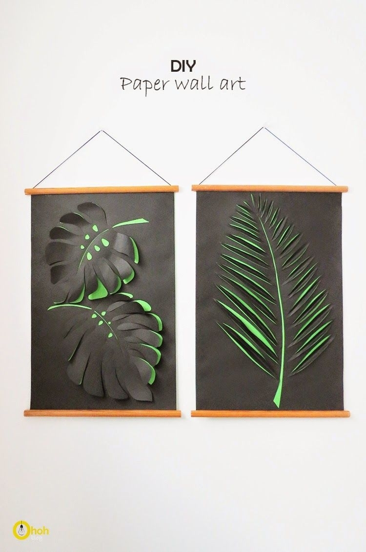 Diy Paper Wall Art | Paper Craft Tutorials | Pinterest | Paper Walls With Regard To Best And Newest Diy Wall Art (Gallery 5 of 15)